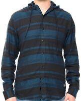 EZEKIEL Men's KRUZE HOODED L/S Shirt - Navy - XL - NWT