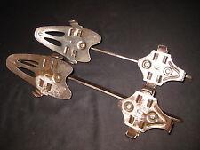Antique Pair Adjustable Winter Sport Iron Ice Skates Signed Gloria Blitz 1930s