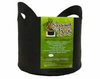 Smart Pot 21007RT Soft-Sided Fabric Container with Handles, Black, 7-Gallon