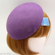 NEW FASHION Wool Felt Beret Pillbox Hat Women Party Fascinator | Purple | DIY