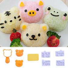 Cute Cartoon Tiger Pig Bear Frog Food Rice Ball Mold Kids Bento Sushi Maker Tool