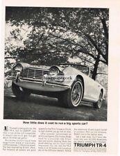 1962 Triumph TR-4 TR4 Vtg Print Ad