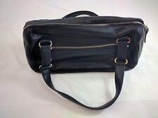 NEW Black Leather Charles David Hobo Boho Round Cylinder Purse Bag NWT Dustbag
