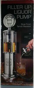 Godinger Silver FILL'ER UP 32 OZ. Drink PUMP VINTAGE GAS PUMP STYLE NEW Open box