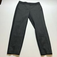 Loft Marisa Fit Pants Size 4 Black Gold Pattern Front A1909