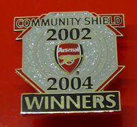 Danbury Enamel Pin Badge Arsenal Football Club Community Shield Winner 2002 2004