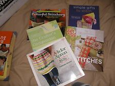 LOT of 5 AWESOME Sewing Embroidery Craft books Apron patterns FREE SHIPPING