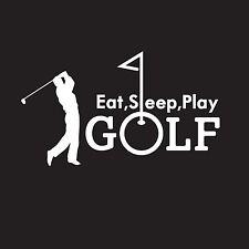 Eat Sleep Play Golf Sports Golfer Vinyl Sticker