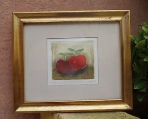 "VICENTE GANDIA (1935-2009) LIMITED EDITION 20/25 ""APPLES"" ETCHING SIGNED"