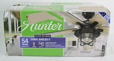 "Hunter 54"" Coral Gables II Indoor / Outdoor Ceiling Fan w/ Remote - 59598 - NOB"