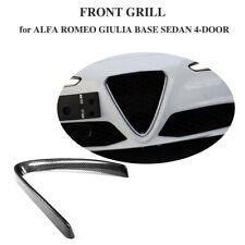 Carbon Fiber Front Grill Frame V Cover For Alfa Romeo Giulia Base Sedan 15-18