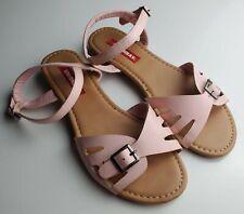 Girls Unionbay Pink Flat Ankle Strap Sandals 6.5 M