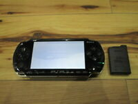 Sony PSP 1000 Console Piano Black w/battery Pack Japan o706