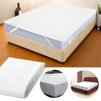 Bed Cover Solid Waterproof Mattress Protector with Elastic Band Washable ONY