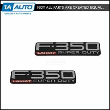 OEM F-350 Lariat Super Duty Fender Nameplate Emblem Pair Set for Ford Pickup New