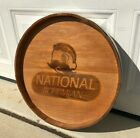 Natty Boh National Bohemian Wooden Beer Sign Keg Barrel Baltimore MD Advertising