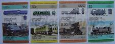 1985 GRENADINES Set #5 Train Locomotive Railway Stamps (Leaders of the World)
