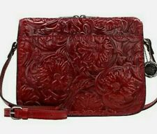 Patricia Nash Nazaire Tooled Leather Red Veg Tan Crossbody Bag-Nwt-Orig. $169.00