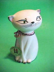 vintage HOLT HOWARD COZY KITTEN CAT SALT & PEPPER SHAKER  ~ original hang tag