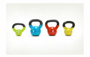 Neoprene Cast Iron Kettlebells 4kg-20kg Fitness Bootcamp Training Strength Gym