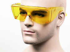 Extra Large Will Fit Over Most Night Driving Safety Glasses Sun HD Yellow 293