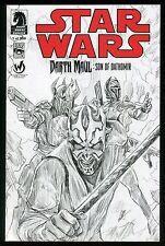 Star Wars Darth Maul Son of Dathomir 1 Comic Wizard World Ltd to 500 Sketch Var.