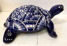 "Talavera Mexican Pottery Turtle Animal Wall Table Decor Large 14""  Folk Art"
