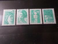 FRANCE, LOT 4 timbres SABINE MARIANNE LIBERTE' neufs** LUXE, MNH STAMPS