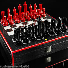 Brand New Ferrari Carbon fiber Chess Set The Official Licensed Product! RARE