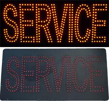 Enseigne lumineuse Panneau à LED SERVICE rouge 48X24X2,5cm