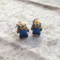 minion earrings Handmade Super Cute Drops  Easter gift