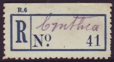 """REGISTERED POST LABEL (PROVISIONAL) """"CYNTHIA"""" QLD"""