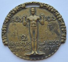 1913 Germany Leipzig TURNFEST Larger Size Sports Award Commemorative Medal