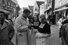 Photo. 1970s. Volendam. Boxing Champion Mohammed Ali Signing Autographs