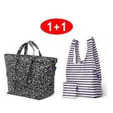 Baggu Carry All (Black Static) + Big Bag (sailor Stripe) 1+1