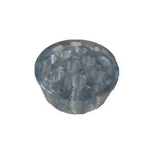 Vintage  Clear Blue Tint Glass Flower Frog For In Vases