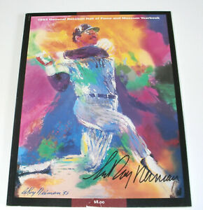 LeRoy Neiman SIGNED 1993 National Baseball Hall of Fame & Museum Yearbook