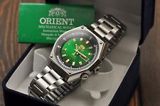 Nos!!! Vintage Orient SK 21 Jewels Automatic Watch Day Date Classic Steel Men's