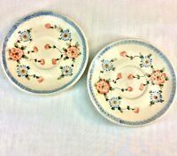 "Vintage Polish Pottery 6"" Saucer Plates Qty 2 Boleslawiec Ceramika Artystyczna"