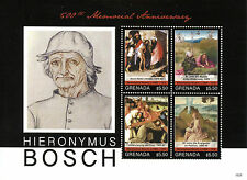 Grenada 2016 MNH Hieronymus Bosch 500th Memorial 4v M/S Art Paintings Stamps