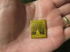 A Nation of Readers Gold Metal Stamp w US Flag & Capitol