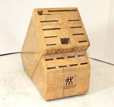 A. Henckels 1731 Knife Wood Block Storage Wooden Display Piece 19 Slots