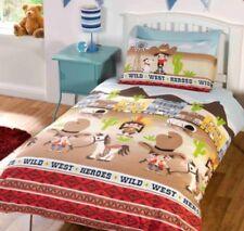 Children's duvet set - wild west duvet cover set - single duvet set - pillowcase