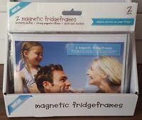 2x Magnetic Photo frame / Picture frame / Fridge frame. 5x7in 13x18cm NEW