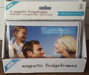 2x Magnetic Photo frame / Picture frame / Fridge frame. 4x6in 10x15cm NEW