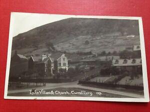 Vintage RP Postcard Posted 1933 Lake Villas & Church Cwmdillery