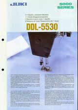 Juki DDL-5530 Industrial Sewing Machine Rare Original Factory Dealer Brochure