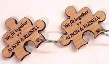 Personalised Jigsaw Keyrings !! Weddings !! Anniversaries !! !! Valentines !!