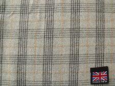 Pure New Wool Tweed Plaid Fabric 1.4 m