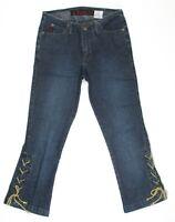 Mudd Junior Womens Jeans Stretch Cropped Capri Dark Wash Denim Size 1 25 x 22